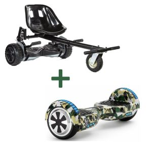 black camo green hoverboard bundle
