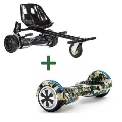 black camo green hoverboard bundle
