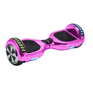 chrome pink led arch hoverboard swegway