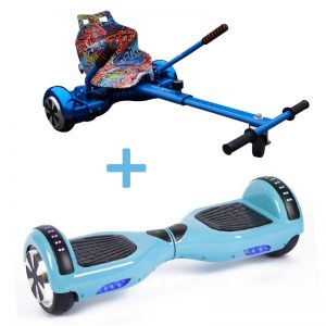 baby blue hoverboard bundle