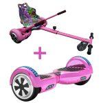 chrome pink hoverboard bundle