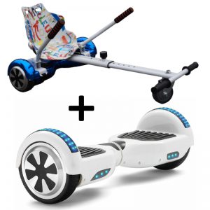 classic white hoverboard bundle