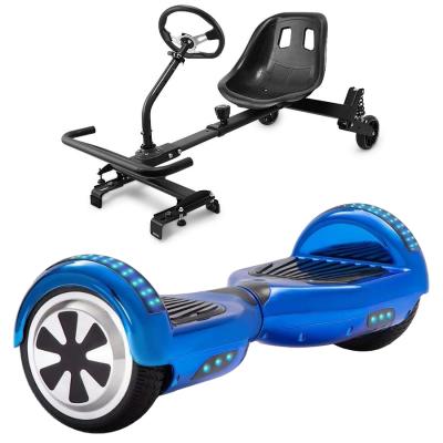 chrome blue hoverboard bundle