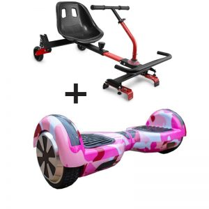 camo pink hoverboard bundle
