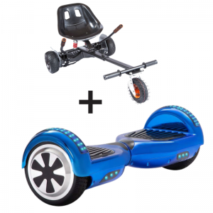 chrome blue hoverboard bundle
