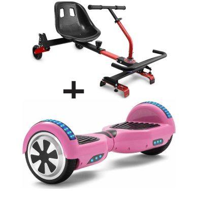 baby pink hoverboard bundle