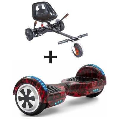 red flame hoverboard bundle