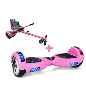 Led Arch Bluetooth Classic Pink Hoverboard + Graffiti Pink Hoverkart
