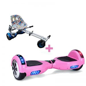 Led Arch Bluetooth Classic Pink Hoverboard + Graffiti White Monster Hoverkart