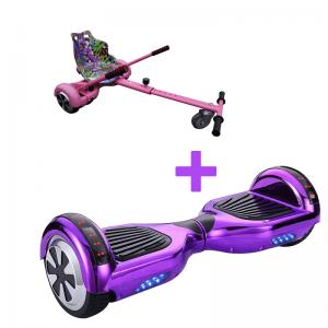 Led Arch Chrome Purple Hoverboard + Pink Hoverkart Bundle