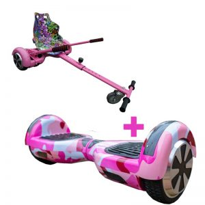 Led Arch Bluetooth Camo Pink Hoverboard + Graffiti Pink Racer Hoverkart