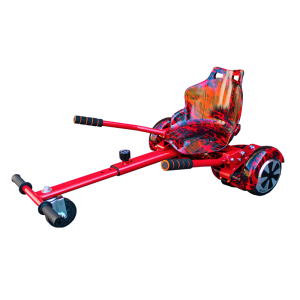 Red Graffiti Flame Hoverboard Bundle Hoverkart Racer Edition