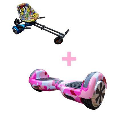 Camo Pink Monster Hoverboard Bundle