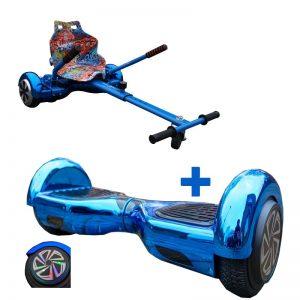 2019 Chrome Blue Led Wheel Hoverboard Bundle