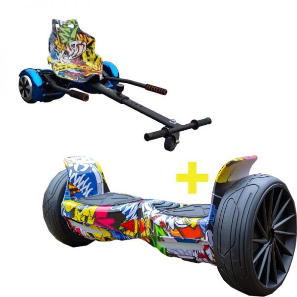 FREE GRAFFITI HOVERKART With All Terrain Hip Hop Hoverboard