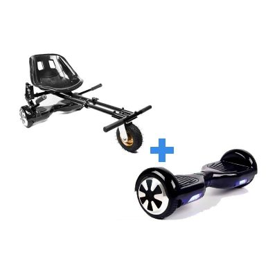 Classic Black Hoverboard Swegway + Black Monster Hoverkart
