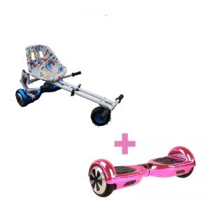 Bluetooth Pink Hoverboard Swegway + Graffiti White Monster Hoverkart
