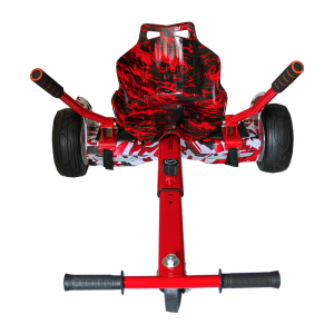 Off Road Camo Red Flame Hoverboard 8.5″ Bundle With Racer Hoverkart Edition