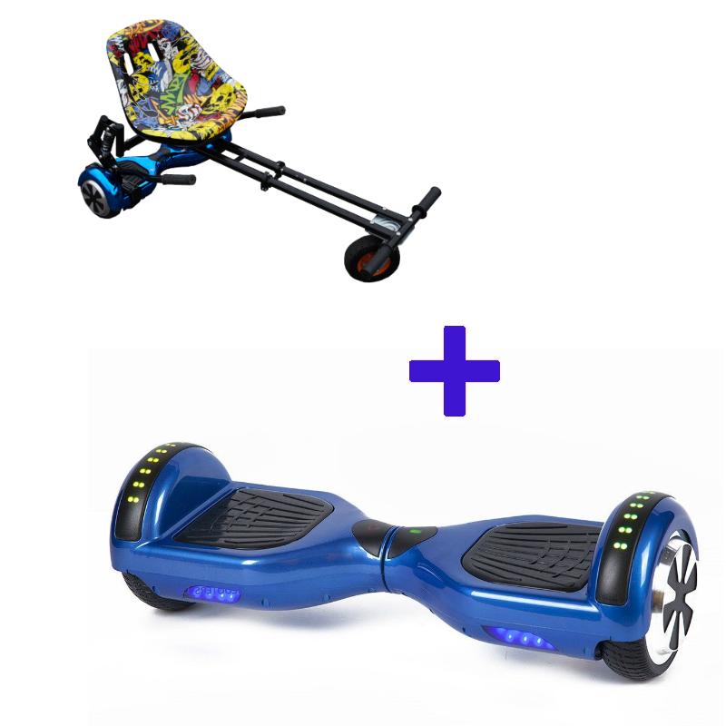 Classic Blue Monster Hoverboard Bundle