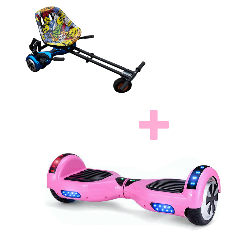 Classic Pink Monster Hoverboard Bundle