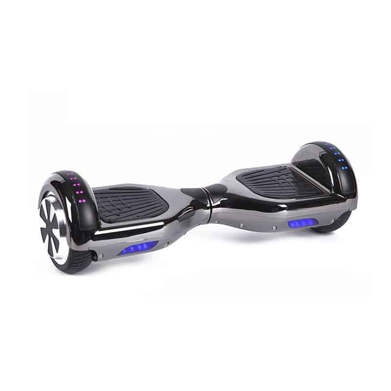 Chrome Black Hoverboard Swegway