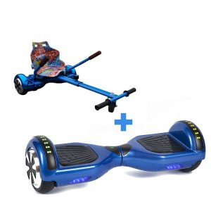 Led Arch Bluetooth Classic Blue Hoverboard + Graffiti Blue Hoverkart