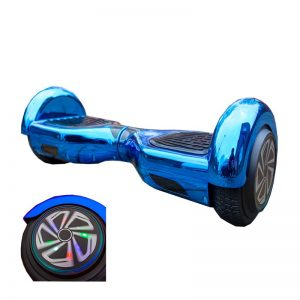 2019 Blue Chrome Bluetooth LED Wheels Swegway Hoverboard