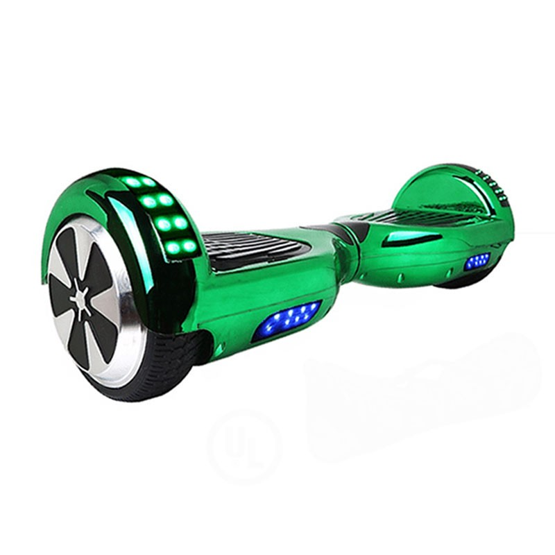 LED Arch Chrome Green Bluetooth Hoverboard Swegway