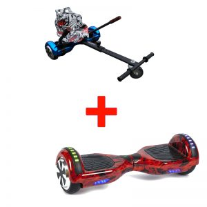 Flame Red Hoverboard Hoverkart Bundle