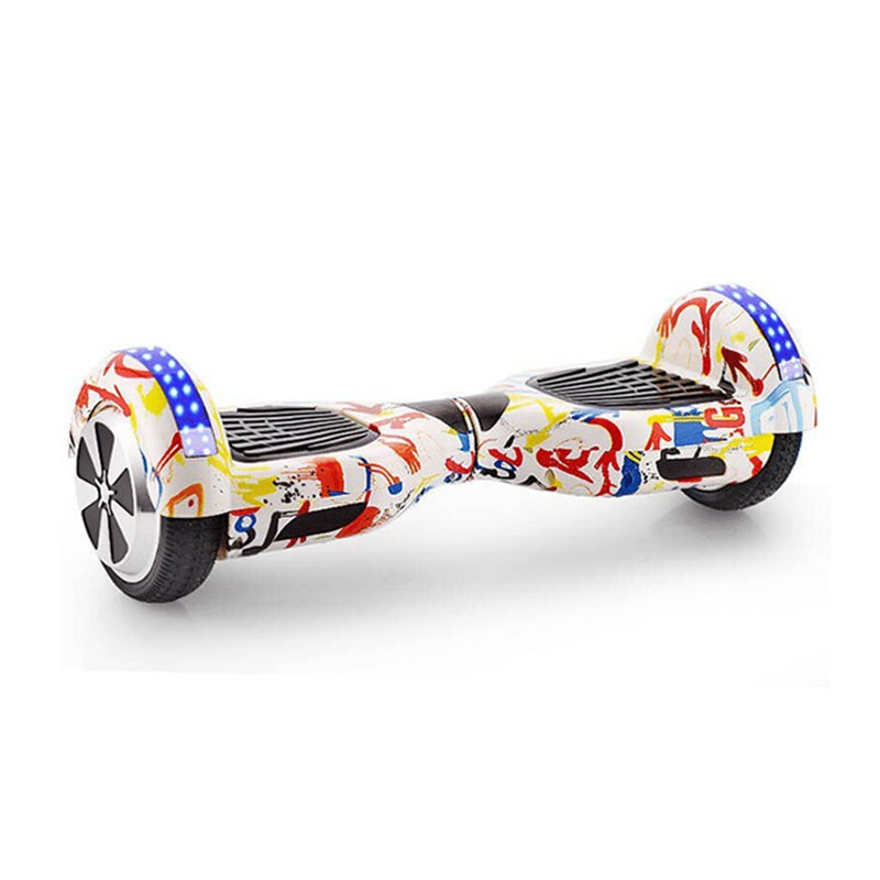Graffiti White Bluetooth LED Arch Hoverboard Swegway