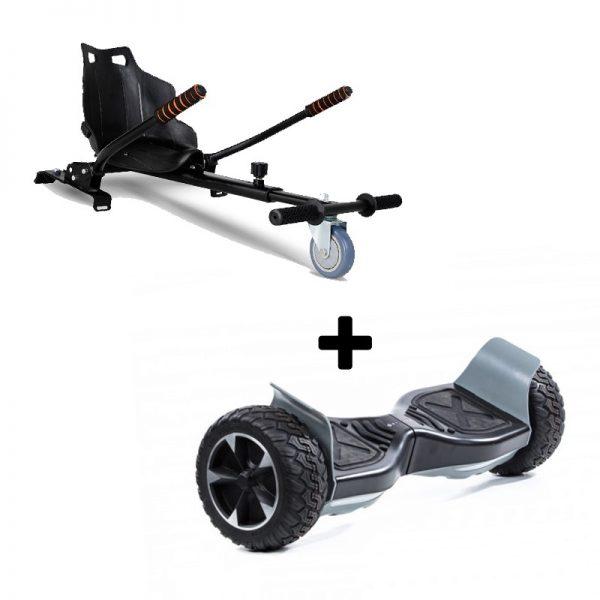 "Ultra Black Hoverkart Go Kart With 6.5"" Bluetooth All Terrain Black Off Road Off Road Hoverboard Segway Swegway"