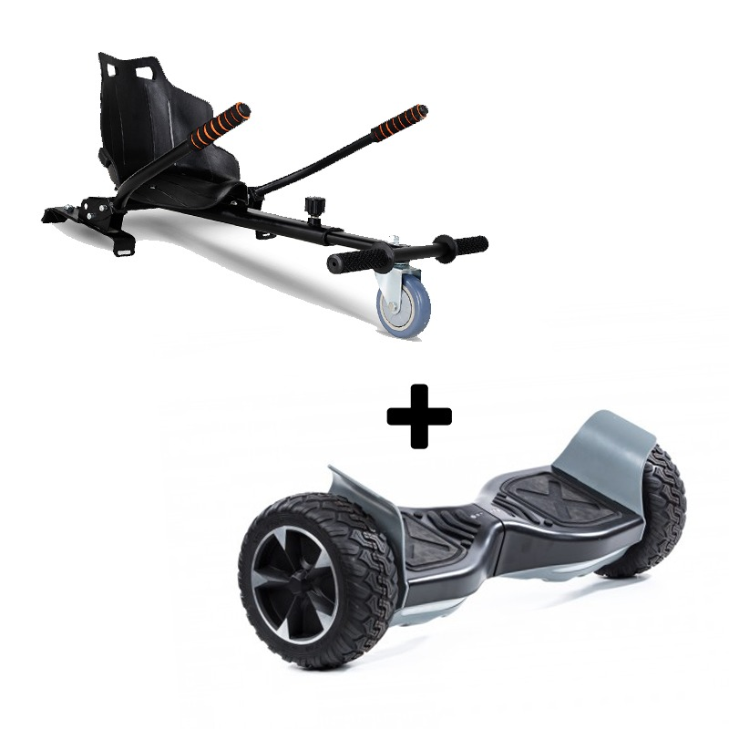 "Ultra Black Hoverkart Go Kart With 8.5"" Bluetooth All Terrain Black Off Road Off Road Hoverboard Segway Swegway"