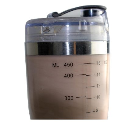 Silver Chrome Electric Protein Shaker