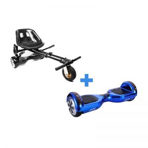 Led Arch Bluetooth Chrome Blue Swegway Segway Hoverboard + HoverKart Monster Bundle