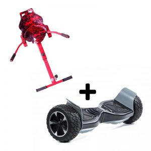 "Camo Red graffiti Racer with 8.5"" Hummer Monster all terrain off road Bluetooth hoverboard swegway"
