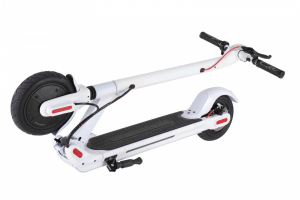M5- Folding Electric White E Scooter with APP & Led Screen