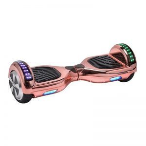 Rose Gold Chrome Bluetooth Hoverboard Swegway