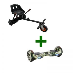 Camo Green Hoverboard + Super Spring Hoverkart Bundle