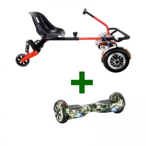 Camo Green Hoverboard + Drifter X Hoverkart Bundle