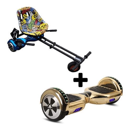 Chrome Gold Hoverboard Swegway WIth Suspension Monster Hoverkart