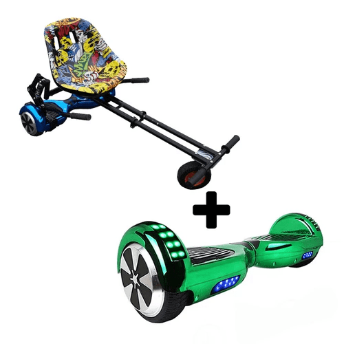 Chrome Green Hoverboard Swegway With Monster Suspension Hoverkart