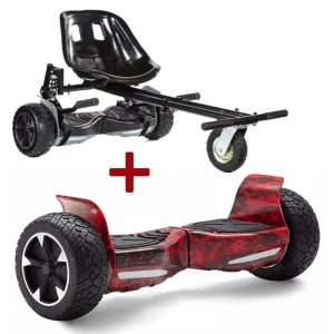 monster black red hoverboard bundle