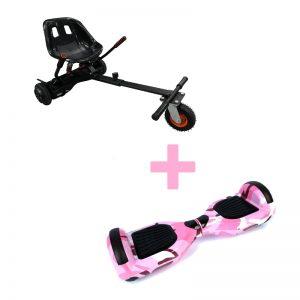 Camo Pink Hoverboard + Super Spring Hoverkart Bundle