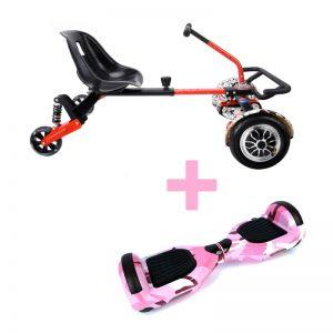 Camo Pink Hoverboard + Drifter X Hoverkart Bundle