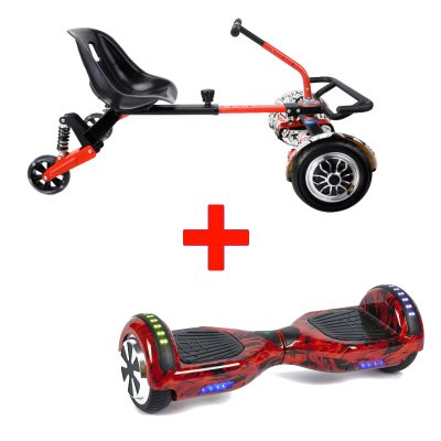 Red Flame Hoverboard + Drifter X Hoverkart Bundle