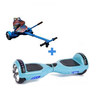 Led Arch Bluetooth Classic Baby Blue Hoverboard + Graffiti Blue Hoverkart