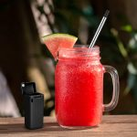 Collapsible Reusable Drinking Straw With KeyChain