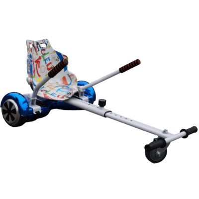 graffiti white hoverkart