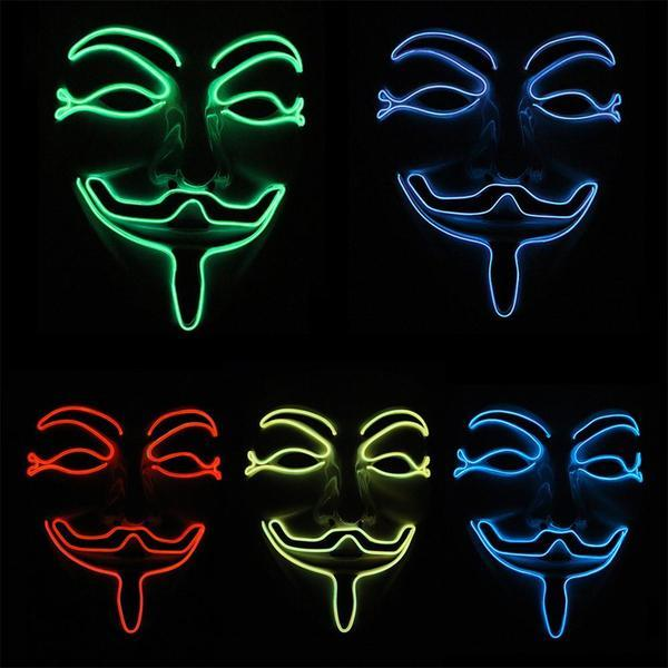 Light up LED Anonymous Vendetta Mask