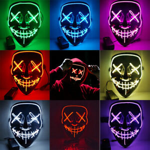 Smiling Stitched Purge LED Light Up Mask